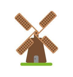 Farmhouse windmill icon image vector