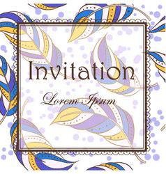 Feathers-invitation vector