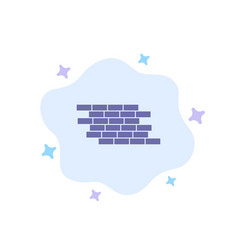 Firewall security wall brick bricks blue icon on vector