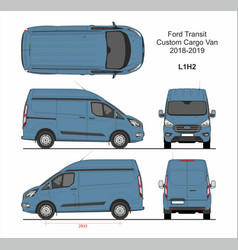 Ford transit custom cargo panel van l1h2 2018-2019 vector