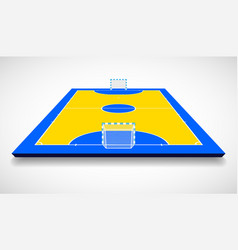 futsal court or field perspective view vector image