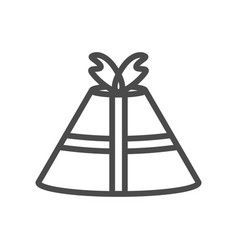 gift icon on white background b vector image