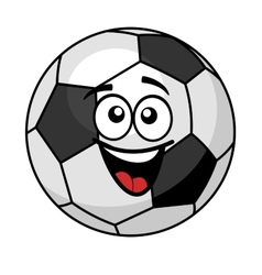 Goofy soccer ball with a big happy smile vector image