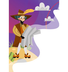 happy columbus day greeting or invitation greeting vector image