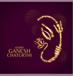 happy ganesh chaturthi beautiful card design vector image