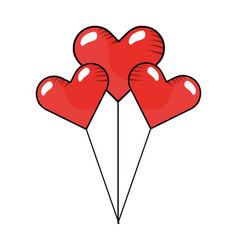 heart balloons icon vector image
