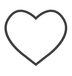 heart line icon web and mobile love sign vector image