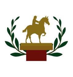 Horse riding equestrian sport vector