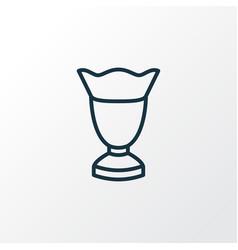 Ice cream glass icon line symbol premium quality vector