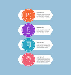 Infographic elements blue vector