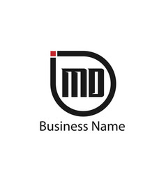 initial letter md logo template design vector image
