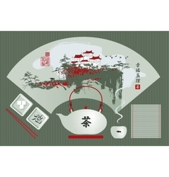 Kettle of tea vector