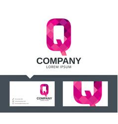 letter q - logo design vector image