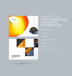 Liquid design presentation template with colourful vector
