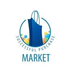 Logo shopping bag vector