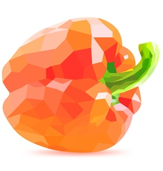 low poly red bell pepper vector image