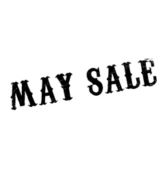 May Sale rubber stamp vector image