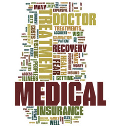 Medical treatment text background word cloud vector
