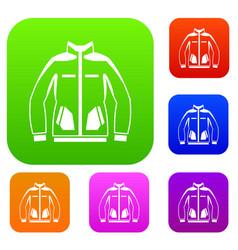 men winter jacket set collection vector image