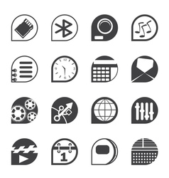 Mobile phone performance and office icons vector image