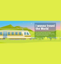 modern highspeed train rides in stylish mountain vector image