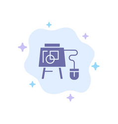 Mouse online board education blue icon on vector
