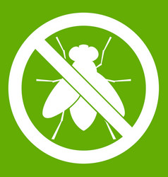 No fly sign icon green vector