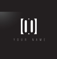 Oo letter logo with black and white negative vector