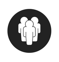 People icon flat people sign symbol with shadow vector