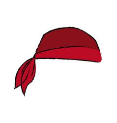 pirate bandana head costume accessory vector image