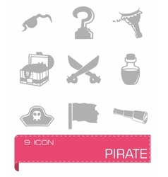 Pirate icon set vector