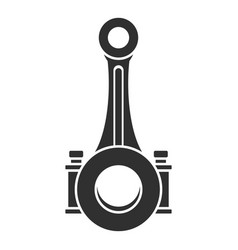piston connecting rod shaft icon simple style vector image