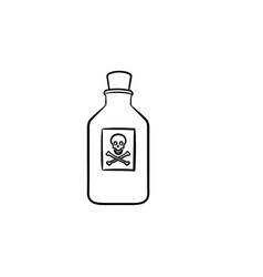 Poison hand drawn outline doodle icon vector