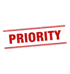 Priority stamp priority label square grunge sign vector