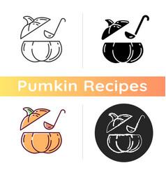 pumpkin soup icon vector image