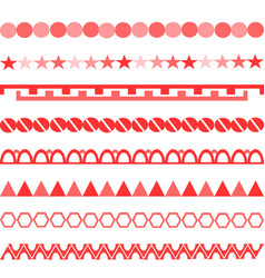 Red symbols ornament vertical symmetrical pattern vector