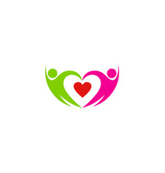 romance people logo icon design vector image