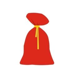Santa claus big bag icon vector
