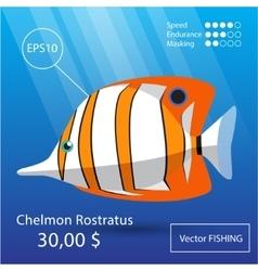 Sea fish vector image
