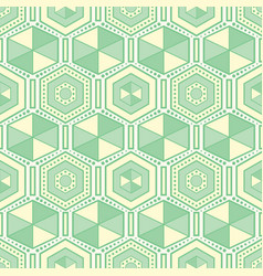 seamless geometric pattern of hexagons vector image