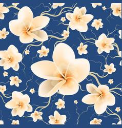 seamless pattern bloom flowers vector image