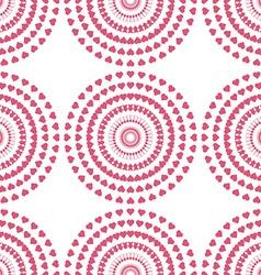 Seamless pattern of swirl pink heart vector image