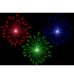 set of colored fireworks effect vector image