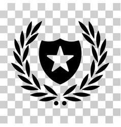 shield laurel wreath icon vector image