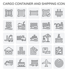 Shipping container icon vector
