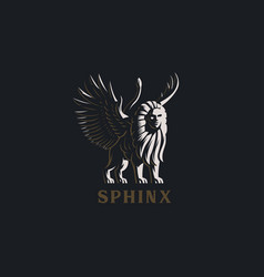 Sphinx the mythical creature vector