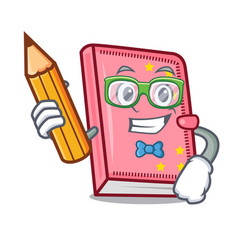 Student diary character cartoon style vector
