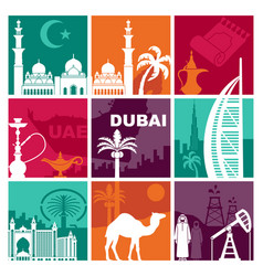 traditional symbols united arab emirates vector image