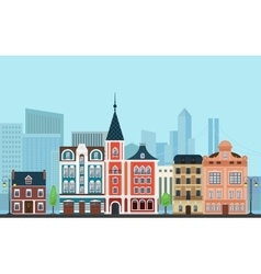 Urban landscape Old buildings vector
