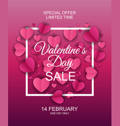 valentines day sale discont card eps10 vector image